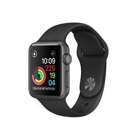 Apple Apple Watch Series 2, 38mm Space Gray Aluminum Case with Black Sport Band 130-200mm ALL SALES FINAL - NO RETURNS OR EXCHANGES