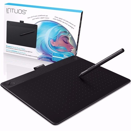 Wacom Intuos Art Pen and Touch Tablet Small Black 16GB Creative Bundle  w/Corel Paint