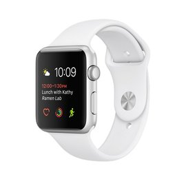 Apple Apple Watch Series 2, 42mm Silver Aluminum Case with White Sport Band 140-210mm ALL SALES FINAL - NO RETURNS OR EXCHANGES