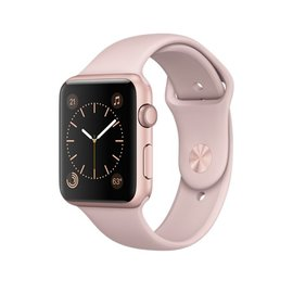 Apple Apple Watch Series 1, 42mm Rose Gold Aluminum Case with Pink Sand Sport Band 140-210mm ALL SALES FINAL - NO RETURNS OR EXCHANGES