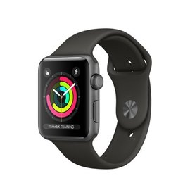 Apple Apple Watch Series 3 (GPS), 42mm Space Gray Aluminum Case with Gray Sport Band 140-210mm (ATO)