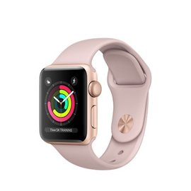Apple Apple Watch Series 3 (GPS), 38mm Gold Aluminum Case with Pink Sand Sport Band 130-200mm