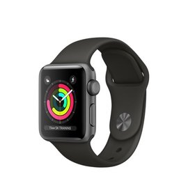 Apple Apple Watch Series 3 (GPS), 38mm Space Gray Aluminum Case with Gray Sport Band 130-200mm (ATO)