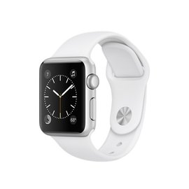 Apple Apple Watch Series 1, 38mm Silver Aluminum Case with White Sport Band 130-200mm (ATO)