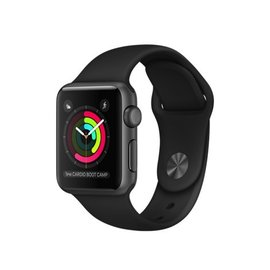 Apple Apple Watch Series 1, 38mm Space Gray Aluminum Case with Black Sport Band 130-200mm (ATO)