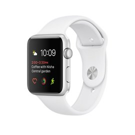 Apple Apple Watch Series 1, 42mm Silver Aluminum Case with White Sport Band 140-210mm (ATO)