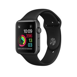 Apple Apple Watch Series 1, 42mm Space Gray Aluminum Case with Black Sport Band 140-210mm (ATO)