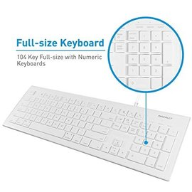Macally Macally 104 key Ultra Slim USB Wired Keyboard for Mac and PC