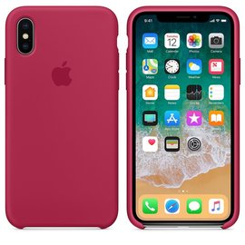 Apple Apple Silicone Case for iPhone X - Rose Red (WSL)