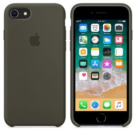 Apple Apple Silicone Case for iPhone 8/7 - Dark Olive