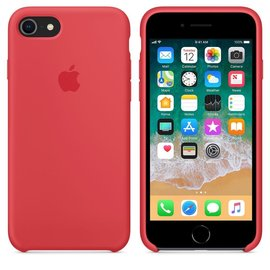 Apple Apple Silicone Case for iPhone 8/7 - Red Raspberry