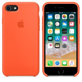 Apple Apple Silicone Case for iPhone 8/7 - Spicy Orange