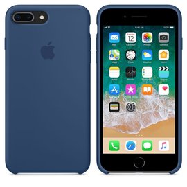 Apple Apple Silicone Case for iPhone 8/7 Plus - Blue Cobalt