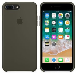 Apple Apple Silicone Case for iPhone 8/7 Plus - Dark Olive