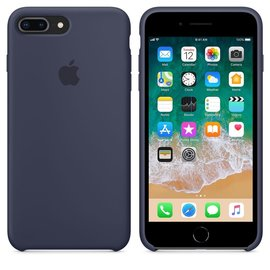 Apple Apple Silicone Case for iPhone 8/7 Plus - Midnight Blue