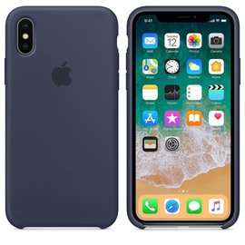 Apple Apple Silicone Case for iPhone X - Midnight Blue