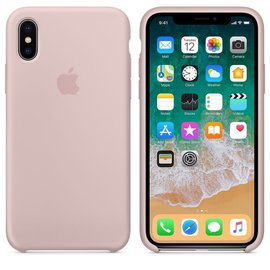 Apple Apple Silicone Case for iPhone X - Pink Sand
