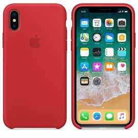 Apple Apple Silicone Case for iPhone X - Red
