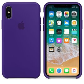 Apple Apple Silicone Case for iPhone X - Ultraviolet (WSL)