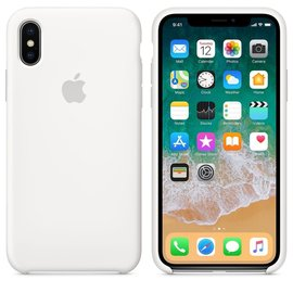 Apple Apple Silicone Case for iPhone X - White