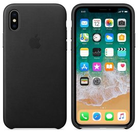 Apple Apple Leather Case for iPhone X - Black