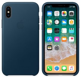 Apple Apple Leather Case for iPhone X - Cosmos Blue (WSL)