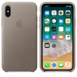 Apple Apple Leather Case for iPhone X - Taupe (WSL)
