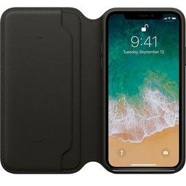Apple Apple Leather Folio Case for iPhone X - Black