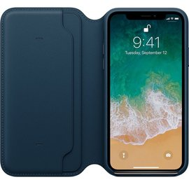 Apple Apple Leather Folio Case for iPhone X - Cosmos Blue