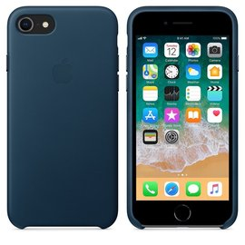 Apple Apple Leather Case for iPhone 8/7 - Cosmos Blue