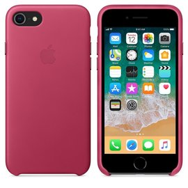 Apple Apple Leather Case for iPhone 8/7 - Pink Fushia<br /> Apple Leather Case for iPhone 8/7 - Dark Aubergine