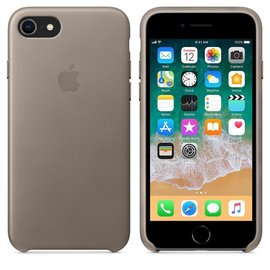 Apple Apple Leather Case for iPhone 8/7 - Taupe