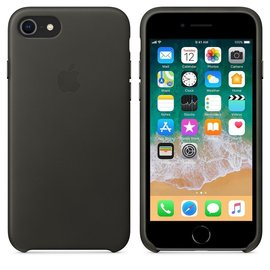 Apple Apple Leather Case for iPhone 8/7 Plus - Charcoal Gray (ATO)