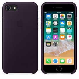 Apple Apple Leather Case for iPhone 8/7 Plus - Dark Aubergine (ATO)<br /> Apple Leather Case for iPhone 8/7 - Dark Aubergine