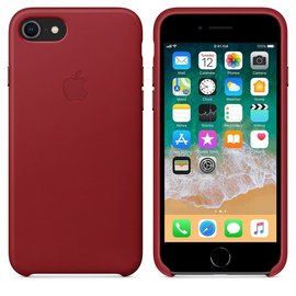 Apple Apple Leather Case for iPhone 8/7 Plus - PRODUCT RED