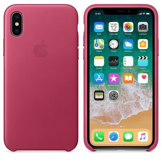 Apple Apple Leather Case for iPhone X - Pink Fushia (ATO)