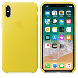 Apple Apple Leather Case for iPhone X - Spring Yellow (ATO)