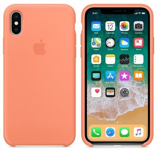 Apple Apple Silicone Case for iPhone X - Peach