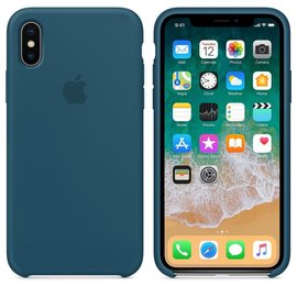 Apple Apple Silicone Case for iPhone X - Cosmos Blue
