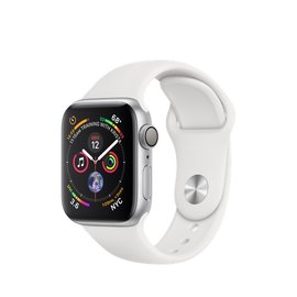 Apple Apple Watch Series 4 (GPS), 40mm Silver Aluminum Case with White Sport Band