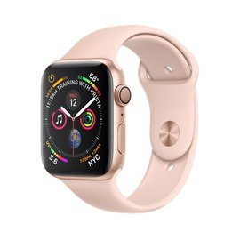 Apple Apple Watch Series 4 (GPS), 44mm Gold Aluminum Case with Pink Sand Sport Band