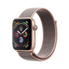 Apple Apple Watch Series 4 (GPS), 44mm Gold Aluminum Case with Pink Sand Sport Loop