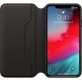 Apple Apple Leather Folio Case for iPhone X Max - Black (ATO)