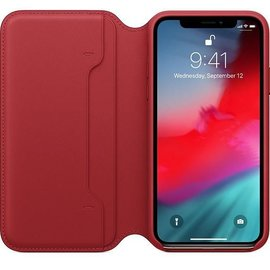 Apple Apple Leather Folio Case for iPhone X - Black (ATO)