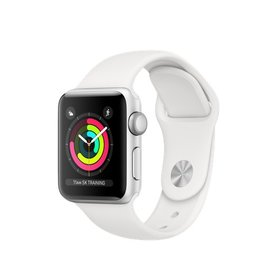 Apple Apple Watch Series 3 (GPS), 38mm Silver Aluminum Case with White Sport Band 130-200mm