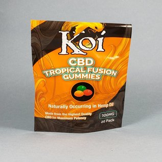 Koi Koi CBD Tropical Gummies 100mg