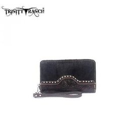 Montana West Montana West Trinity Ranched Tooled Wallet Brown