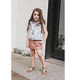 Pomelo Rose Fringe Skirt