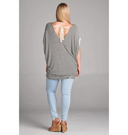 Tie Back Striped Top