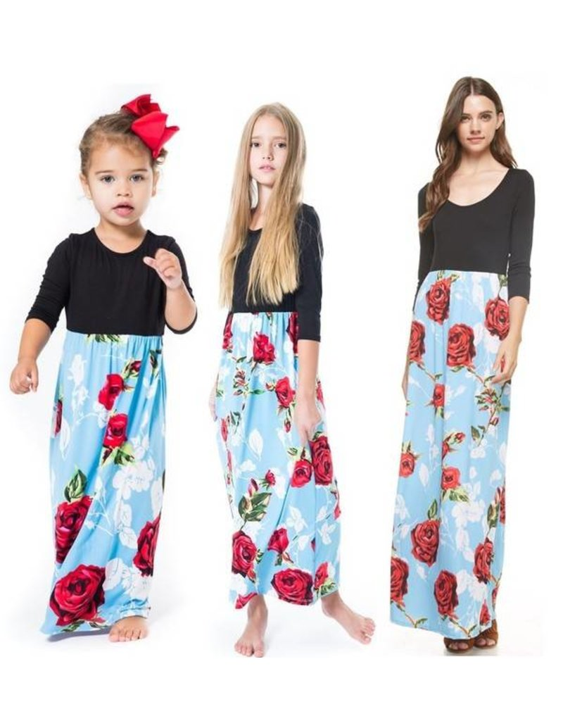 Floral Toddler Maxi Dress - PRUITT AND TAYLOR BOUTIQUE
